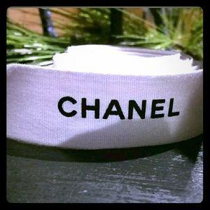 Authentic CHANEL White & Black Ribbon